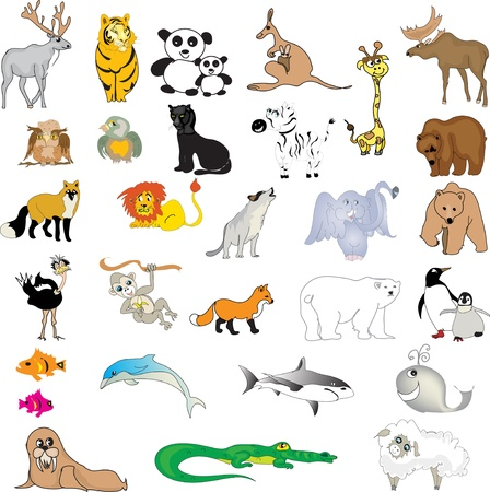 Set of animals Vector