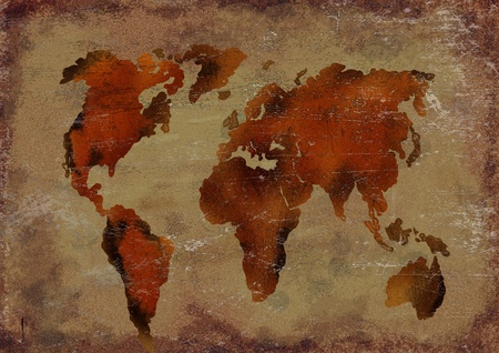 vintage world map: Old worlds map