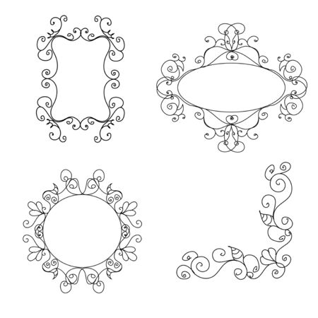 decorative border: Decorative frames Illustration