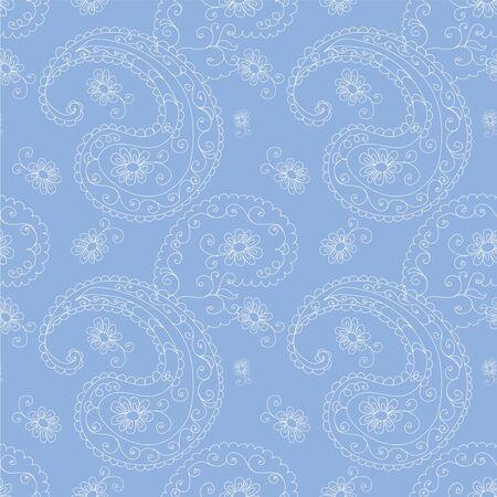 Blue seamless pattern Vector
