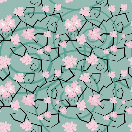 Sakura flowers seamless pattern Vector