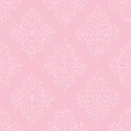 retro lace: Pink seamless royal pattern