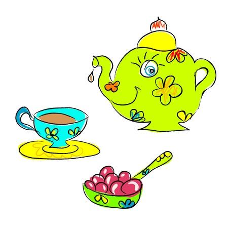 Tea spot Vector