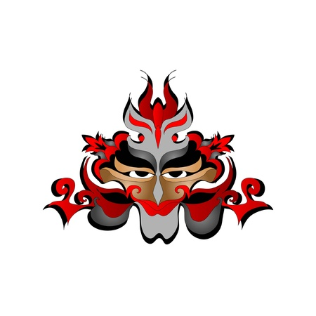 Mask color tattoo Vector