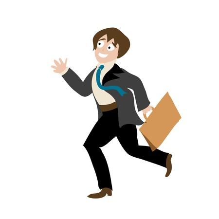 Running worker Illustration