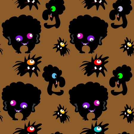Monsters seamless pattern Stock Vector - 18224467