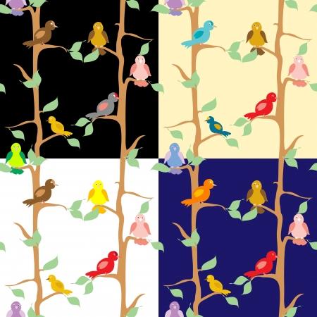 Birds seamless pattern Stock Vector - 18289029