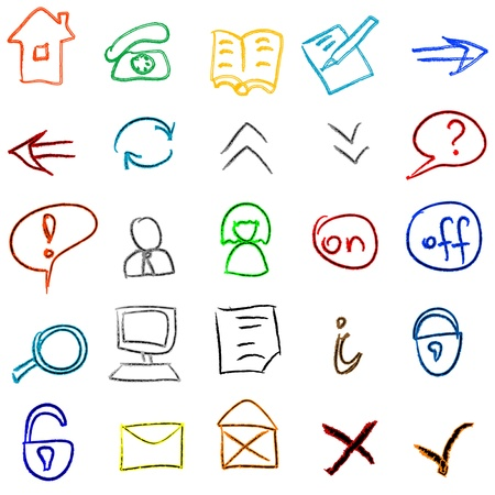 Icons doodles set Vector