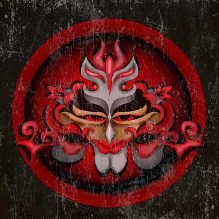Grunge mask photo