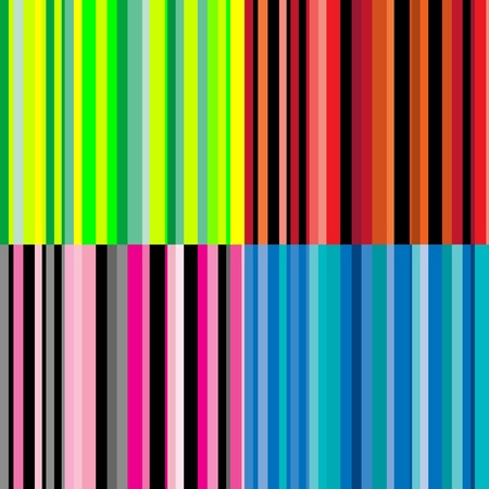 Set of bright stripes seamless patterns