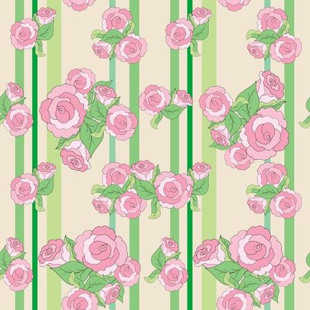 Rose seamless pattern Stock Vector - 18572534