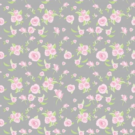 Rose seamless pattern Illustration