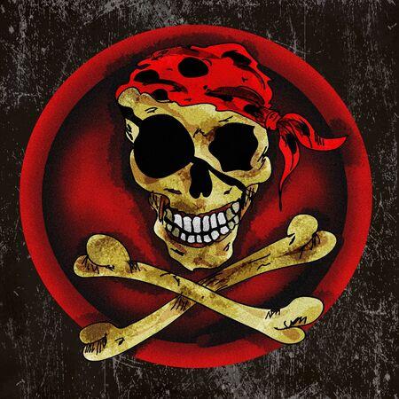 scull: Pirate scull sign