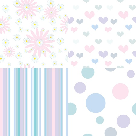 set of  seamless pastel patterns Stock Vector - 19457111