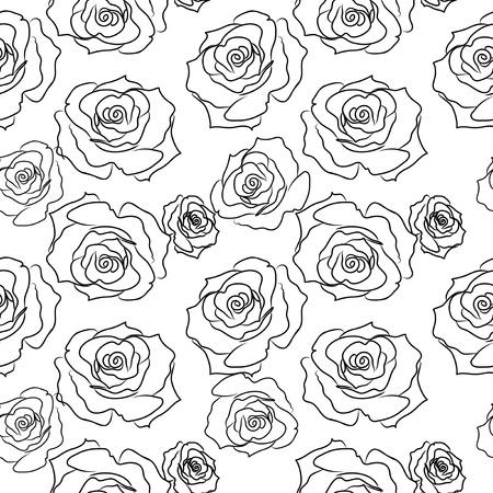 Rose Seamless PAttern Stock Vector - 20338278