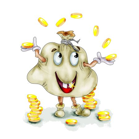 bag cartoon: Money bag cartoon