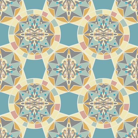 tiles: Kaleidoscope  Seamless pattern Illustration