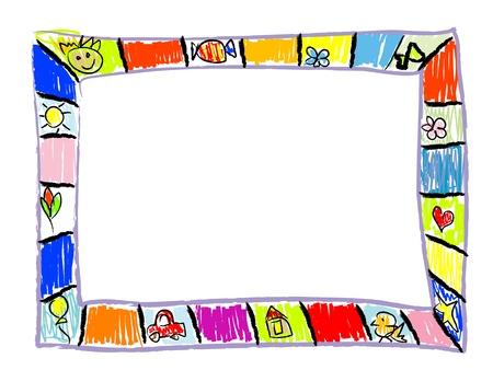 Color Doodles Frame Illustration