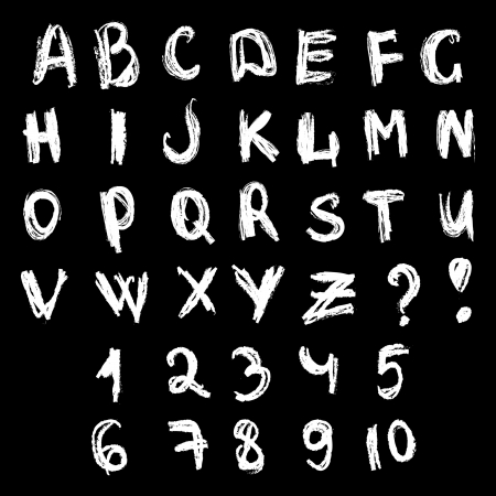 Chalk  doodles type Vector