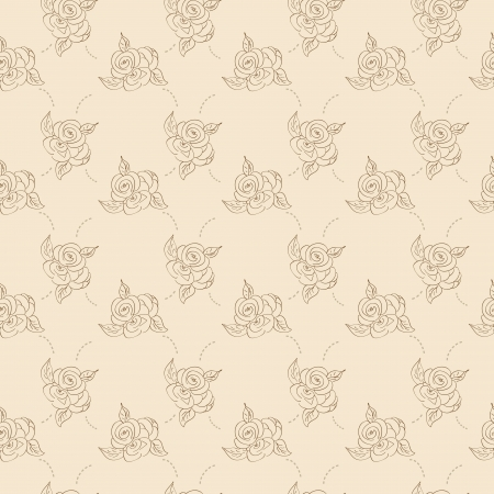 Monochrome roses vintage  Pattern Vector