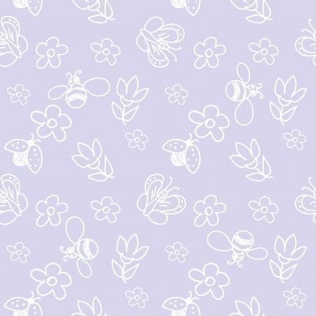 Baby  insects  seamless Pattern  Illustration