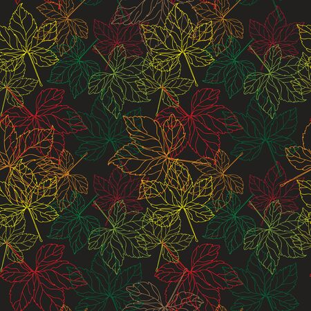 Lace of leaves  Seamless Pattern Vector