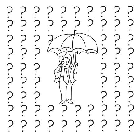 Questions rain Vector