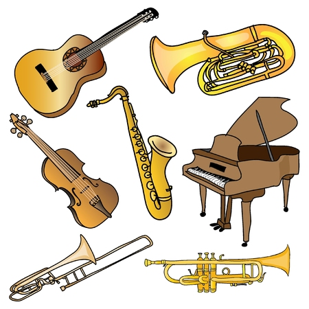 Set of  Musical instruments  photo