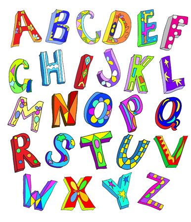 ABC  doodles type Vector