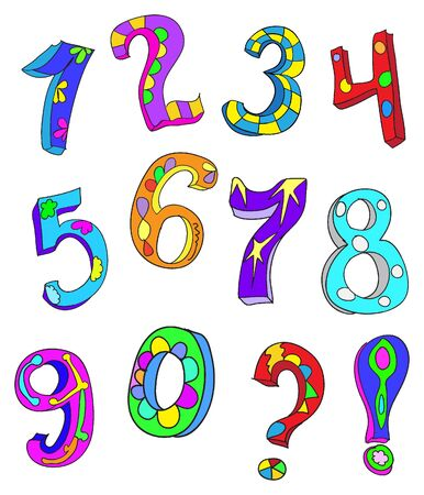ABC  NUMBERS doodles type