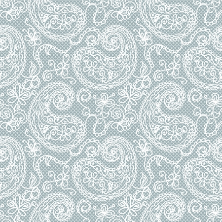 Lace Paisley seamless vector pattern