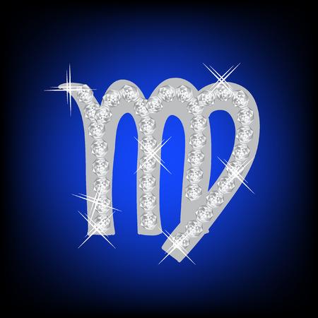 Sterrenbeeld Maagd teken pictogram