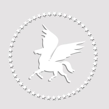 Paper Pegasus Vector