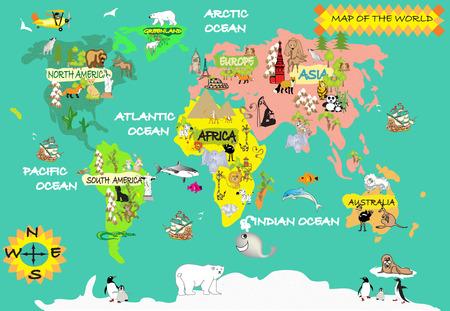 Kids world map photo