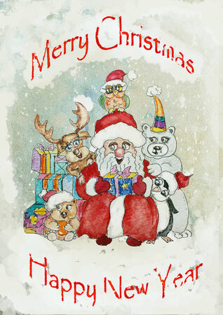 Vintage Christmas Greeting Card photo
