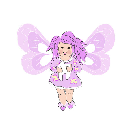 Pink  Tooth Fairy Illustration