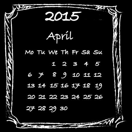 4월: Calendar 2015 April