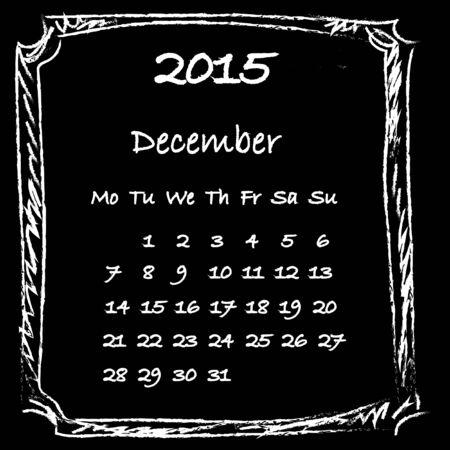 december: Calendar 2015 December