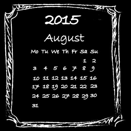 agosto: Calendario 2015 agosto