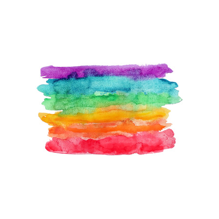 rainbow colors: Rainbow Watercolor banner Illustration
