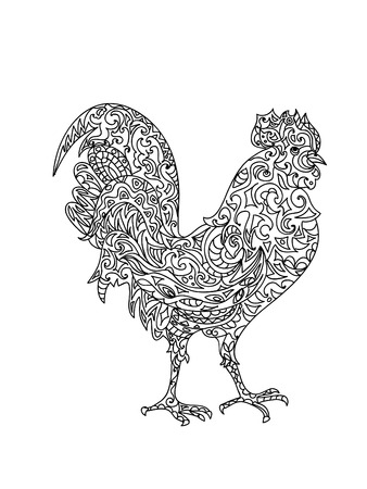 rooster: Rooster zentangle Illustration