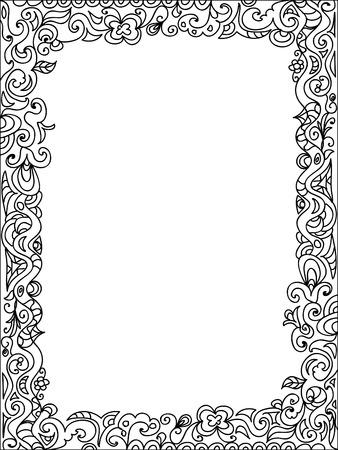 Rám zentangle Ilustrace