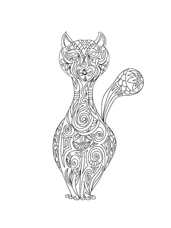 Cat zentangle Illustration