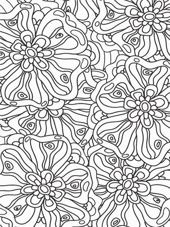 mandala: Flowers zentangle Illustration