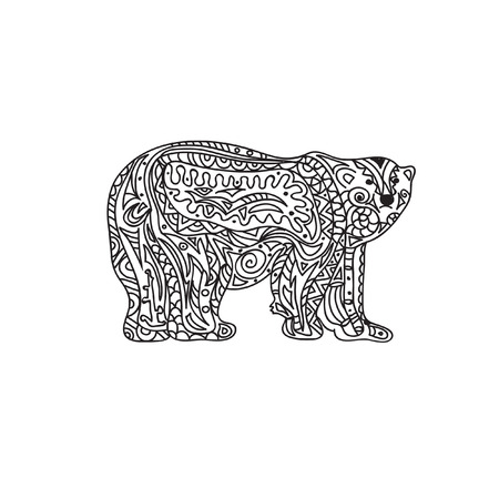 polar: Polar Bear zentangle
