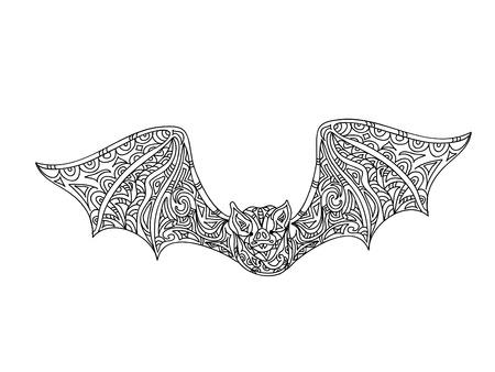 dibujos para colorear: Colorear Bat