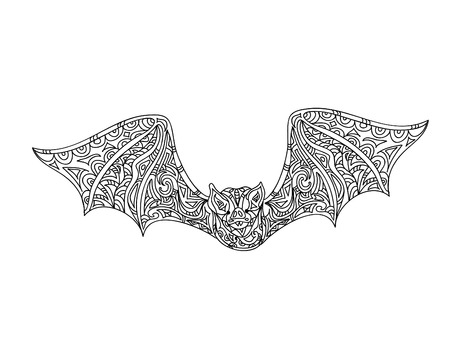 Bat coloring page Illustration
