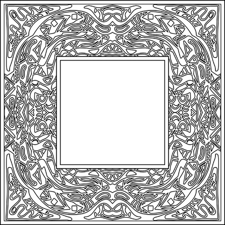 abstract zentangle frame stock photo 44170007