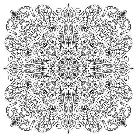 cartoon adult: Abstract mandala zentangle