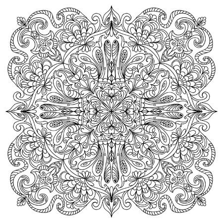 Abstract mandala zentangle